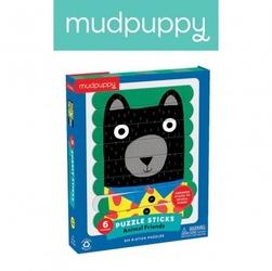 Mudpuppy puzzle patyczki zwierzęcy przyjaciele 24 elementy 3+