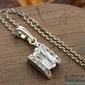 Spring - srebrny wisiorek z kryształkami