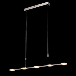 Nowoczesne oświetlenie 5xled do jadalni nad bar ralf demarkt techno 675013005