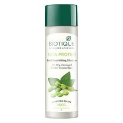 Bio szampon proteinowy odżywczy, biotique, 190 ml - proteiny sojowe  słodkie migdały