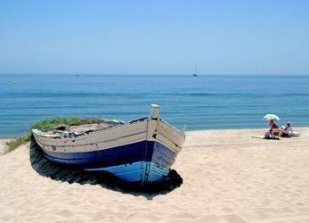 Stara łódź - fototapeta