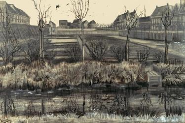 Nursery on schenkweg, vincent van gogh - plakat wymiar do wyboru: 29,7x21 cm