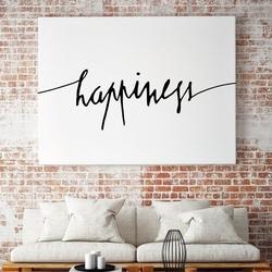 Happiness - minimalistyczny obraz na płótnie , wymiary - 60cm x 90cm