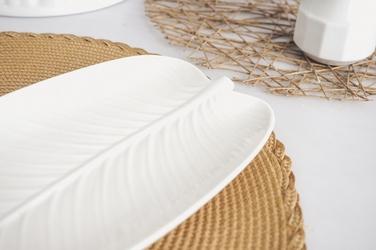 Półmisek porcelanowy liść 33 x 15 cm