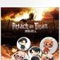 Attack on titan characters - przypinki