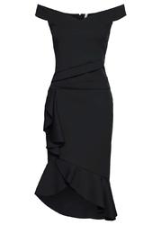 Sukienka z falbanami bonprix czarny