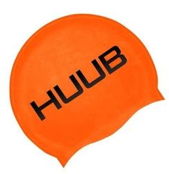 Czepek pływacki silikonowy huub - pomarańczowy