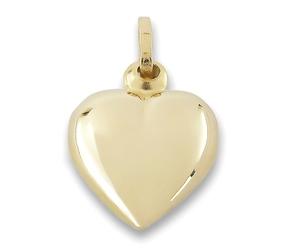 Złote serduszko, gładkie, błyszczące - 35609