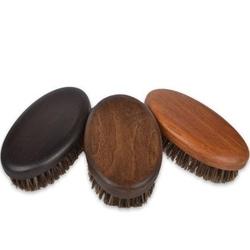Kartacz do brody z naturalnym włosiem dzika w średnim rozmiarze orzech - średni brąz szary
