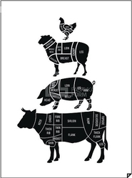 Plakat meat cuts ed. spring 2016 30 x 40 cm