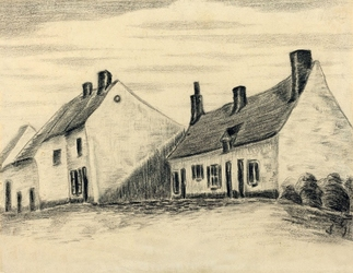 The zandmennik house, vincent van gogh - plakat wymiar do wyboru: 59,4x42 cm