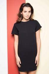 Czarna dresowa sukienka z suwakiem