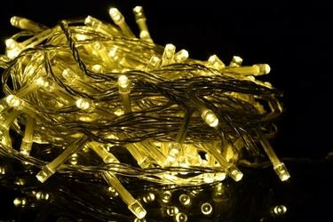 Lampki na łańcuchu 50 led, ciepły biały
