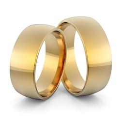 Obrączki ślubne klasyczne zaokrąglone 7 mm