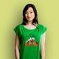 Szczyty zdobywają wytrwali t-shirt damski zielony m