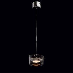Lampka wisząca led chromowana z akrylowym kloszem, regulacja wys. demarkt techno 632013801