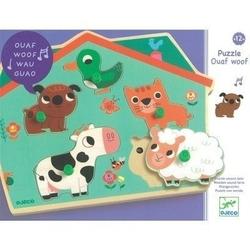 Drewniana zabawka z dźwiękiem + zwierzęta