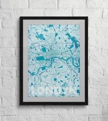 Londyn - błękitna mapa