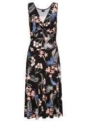 Sukienka z dżerseju bonprix czarny wzorzysty