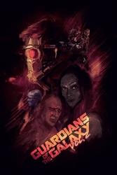 Strażnicy galaktyki vol. 2 bohaterowie - plakat premium wymiar do wyboru: 20x30 cm