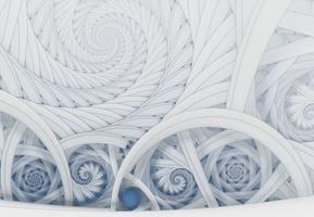 Symetryczne, kolorowe fractale - fototapeta