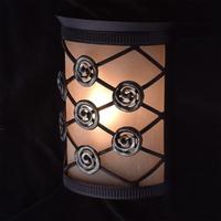 Lampion ścienny z detalami z kutego żelaza chiaro country 382026301