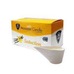 Świeca do masażu waniliowa - safe massage candle seduction vanilla wanilia