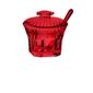 Guzzini - belle epoque - cukiernica z łyżeczką, czerwona - czerwony