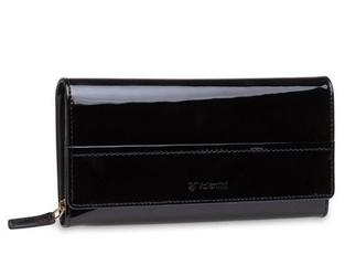 Duży damski portfel valentini like a diamond - czarny