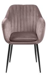 Krzesło z kubełkowym siedziskiem na czterech nogach emilia black