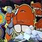 Plakat na papierze fotorealistycznym graffiti