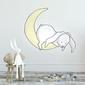 Naklejka na ścianę - rabbit moon , wymiary naklejki - szer. 40cm x wys. 40cm