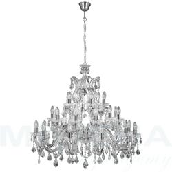 Marietherese lampa wisząca 30 chrom kryształ