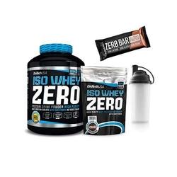 Biotech usa iso whey zero - 2270g + 500g - cookies cream + baton zero bar - 50g - chocolate chip cookie + shaker