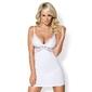 Biała, zmysłowa koszulka - obsessive 810 chemise  thong white lxl
