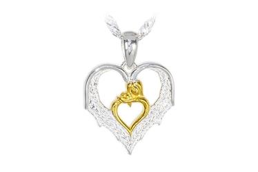 Pozłacany srebrny wisiorek serce