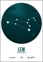 Znak zodiaku, lew - plakat wymiar do wyboru: 40x50 cm