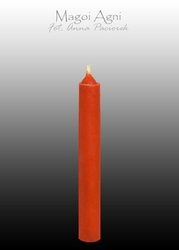 Świeca z wosku 9x1,2cm - czerwona 5 sztuk