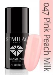 Uv hybrid lakier hybrydowy 047 pink peach milk 7ml