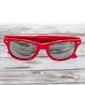 Okulary lustrzanki czerwone  nerdy