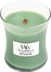 Świeca core woodwick white willow moss średnia