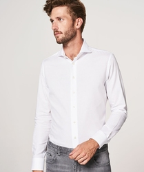 Elegancka biała koszula męska profuomo imperial oxford  38