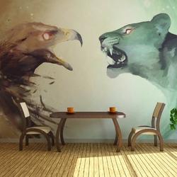Fototapeta - interspecies clash