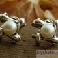 Evora - srebrne kolczyki z perłami