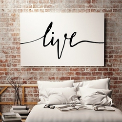 Live - minimalistyczny obraz na płótnie , wymiary - 100cm x 200cm
