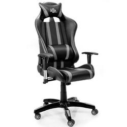 Fotel biurowy obrotowy gracza gamingowy czarny - czarno-szary