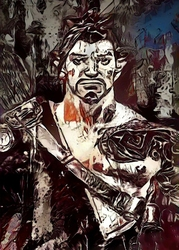 Legends of Bedlam - Hanzo, Overwatch - plakat Wymiar do wyboru: 59,4x84,1 cm