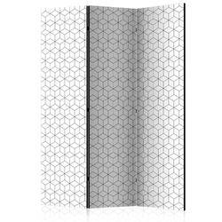 Parawan 3-częściowy - kostki - tekstura room dividers