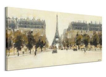 Eiffel tower boulevard - obraz na płótnie
