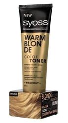 Schwarzkopf syoss color toner krem tonujący do włosów - warm blonde 150ml